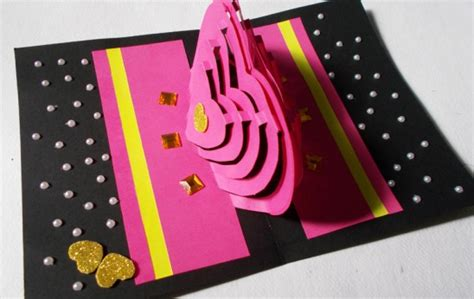 Card Paper Craft Ideas - diy paper craft how to make pop up card by