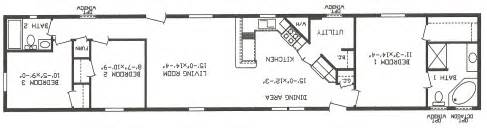 Floor Plans For Mobile Homes Single Wide by Mobile Homes Single Wide Floor Plans House Design Ideas