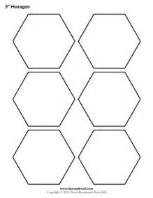 Hexagonal Template by Blank Hexagon Templates Printable Hexagon Shape Pdfs