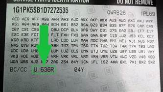 Chevrolet Paint Codes How To Find Your Chevrolet Paint Code