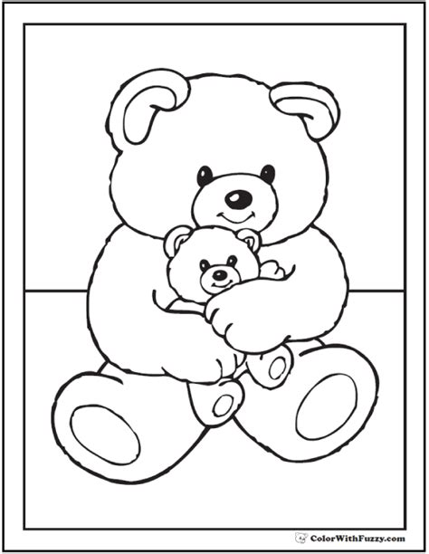 birthday bear coloring pages 55 birthday coloring pages customizable pdf