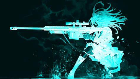 anime wallpaper hd gun glow anime woman gun glowing shooting girl hd wallpapers