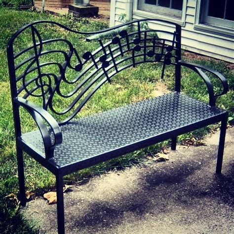 music bench wrought iron music bench by jim glover flowers plants