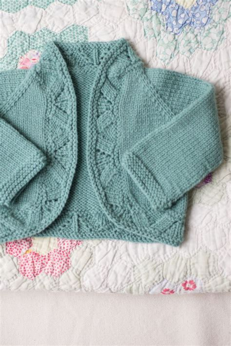 1 Knitted Baby Sweater - knitting patterns for baby sweaters knit in one