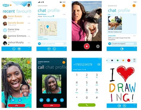 skype app for windows phone 8 1 updated with drawing