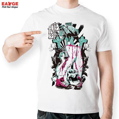 design half shirt mascube half body skull t shirt design inspired by