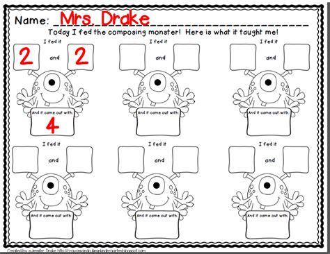 Composing And Decomposing Numbers Worksheet Grade by Crayons Cuties In Kindergarten Composing Numbers Why