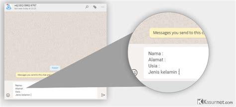 membuat link whatsapp chat cara membuat link whatsapp menuju chat langsung kasurnet com
