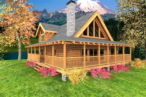 wraparound deck high resolution cabin home plans 12 log cabin floor plans