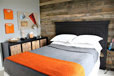grey and orange bedroom maybe for levi s next room perfect boy room ideas