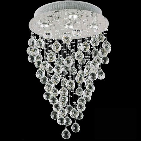 Chandeliers Stores Brizzo Lighting Stores 24 Quot Raindrops Modern Foyer Crystal