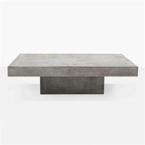 concrete outdoor coffee table blok concrete rectangular coffee table teak warehouse
