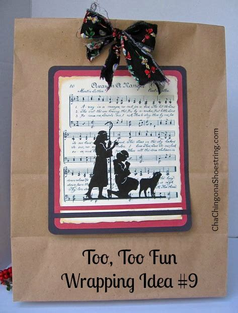 merry  christmas   fun wrapping idea   printable cha ching   shoestring