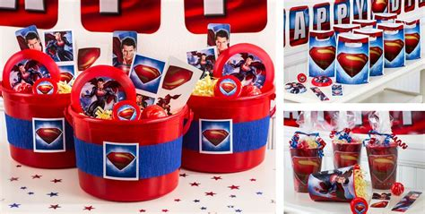 Superman Birthday Giveaways - superman party favors tattoos stickers flying discs more party city