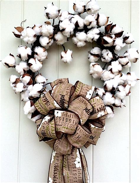 Farmhouse Designs how to make a rustic cotton wreath
