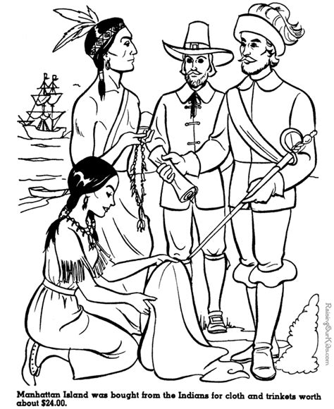 coloring pages for us history manhattan island history and coloring page 012