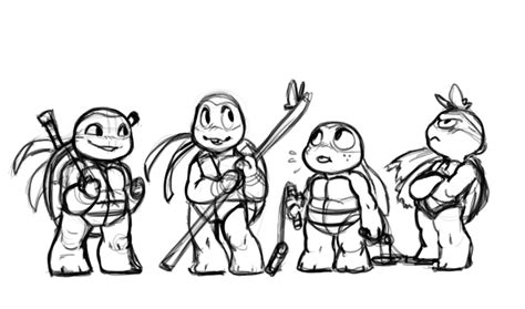 chibi ninja coloring pages chibi 2012 tmnt by noodle doodle on deviantart