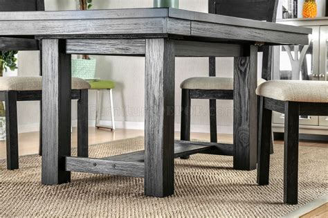 thomaston i cm3543t dining table in brushed black w options