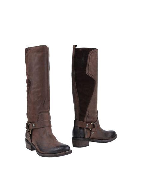 Nana Flats Brown nana boots in brown brown lyst