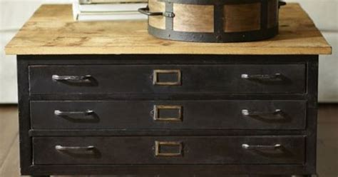 library flat file coffee table pottery barn i can diy it