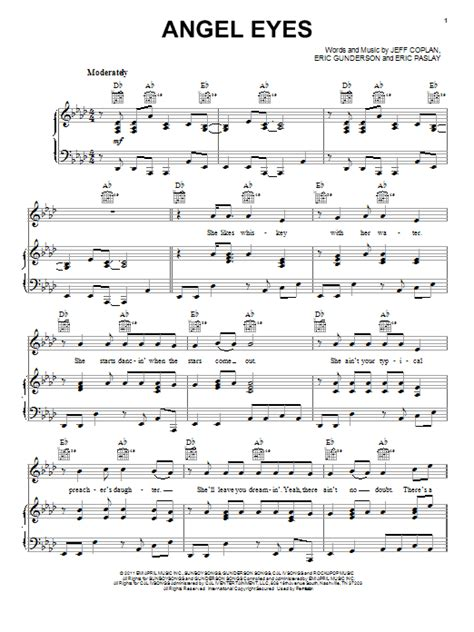 Theme Song In Angel Eyes | angel eyes sheet music direct