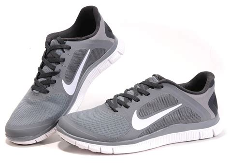 grey black white nike free 4 0 v3 s running shoes