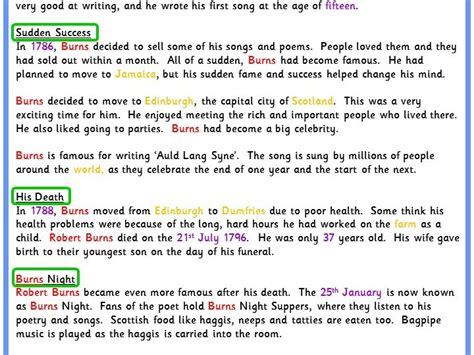 biography text for ks2 text marking a biography model text classroom secrets
