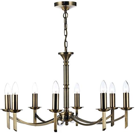 Brass Chandelier Antique Dar Ambassador 8 Light Dual Mount Chandelier Antique Brass Amb0875