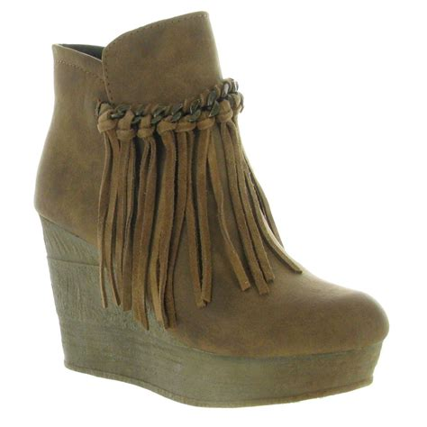 sbicca zepp wedge ankle boots