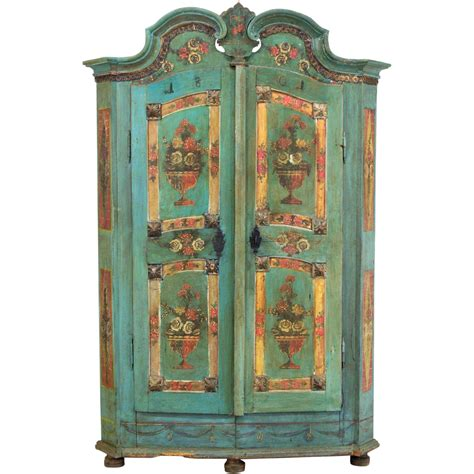 painted wardrobe armoire 19th century french painted armoire from alsace from