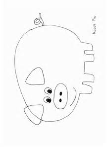 Pig Template For Preschoolers by Animals Crafts Print Your Pig Craft Template All