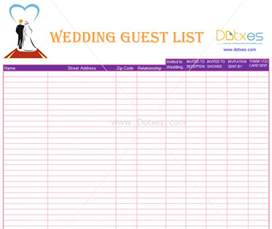 wedding list template list template find your one now a blank and simple