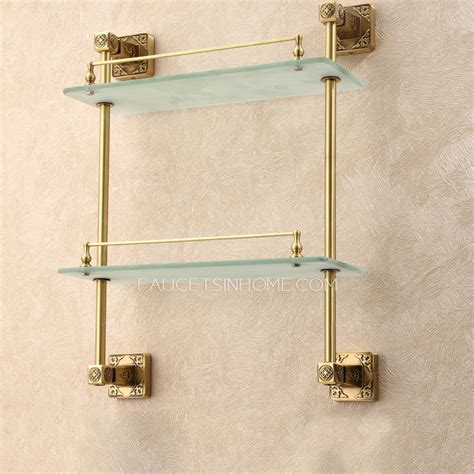 brass bathroom shelves expensive brass antique bronze bathroom glass shelves
