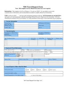 Travel Request Form Template best photos of business travel request form template