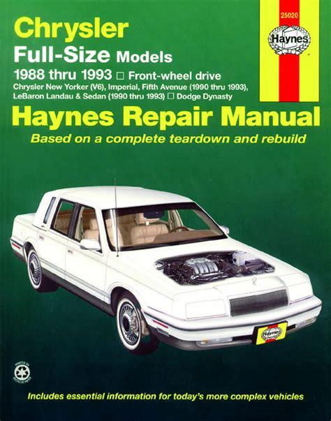 Chrysler Full Size Front Wheel Drive 1988 1993