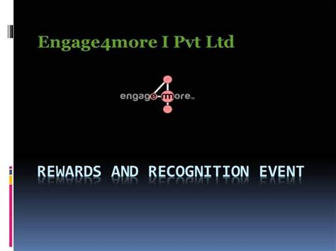 ppt templates for rewards rewards recognition event authorstream