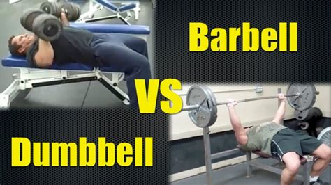 dumbbell vs barbell bench press barbell or dumbbell bench press which is better