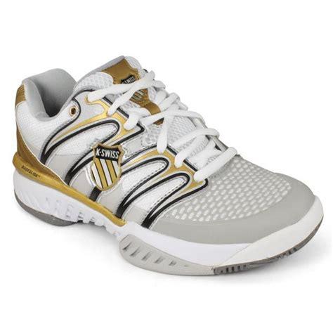 k swiss s bigshot tennis shoes white grey gold ebay