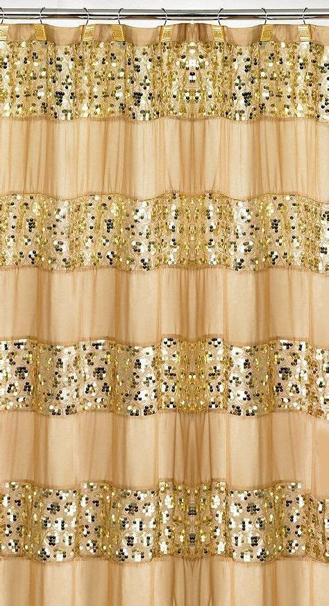 Gold Sequin Shower Curtain by Popular Bath Sinatra Fabric Shower Curtain Chagne With