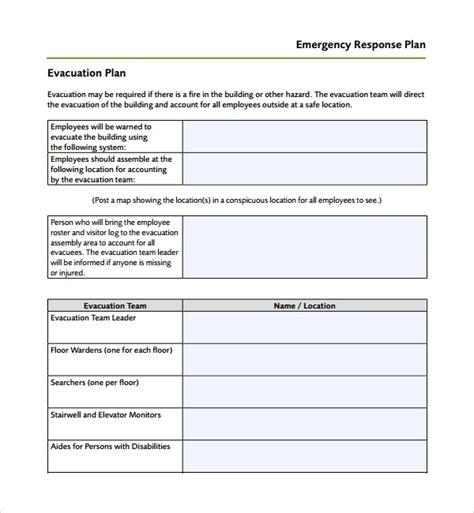 response plan template emergency plan template teacheng us