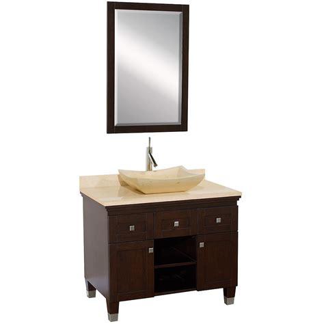 vessel sink vanity 36 quot premiere single vessel sink vanity espresso