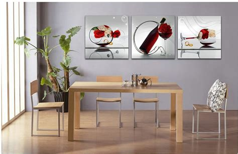 free shipper 3 piece wall art dining room wall paintings