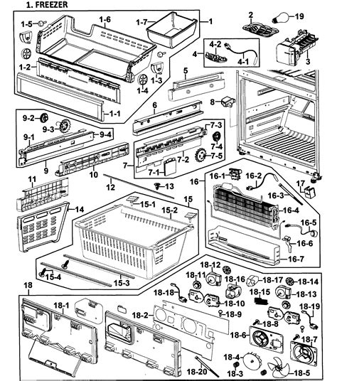 Samsung Refrigerator Parts Samsung Refrigerator Parts Model Rf268abwpxaa0000 Sears Partsdirect