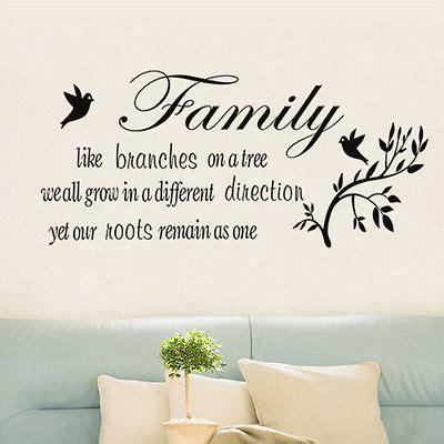 decorating a tree sayings family like branches on a tree vinyl lettering wall quotes home decor xab in wall stickers