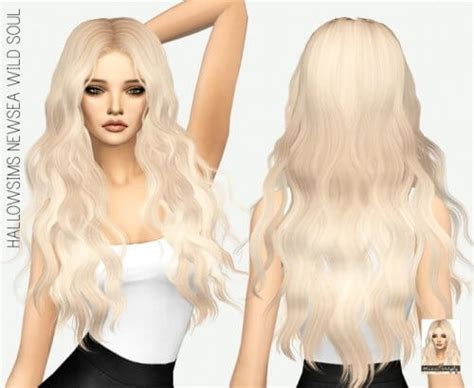 sims 4 longest hair spring4sims hallowsims wild soul long hair for the sims 4
