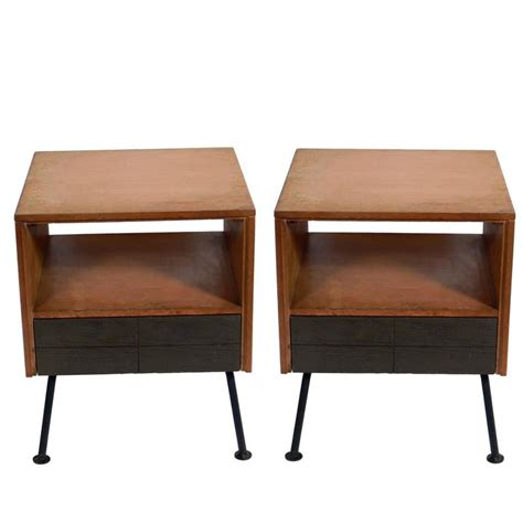 Raymond Loewy Furniture by Pair Of Clean Lined Nightstands Or End Tables By Raymond