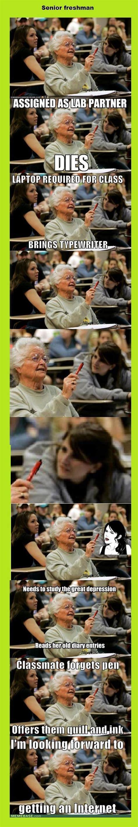 Senior College Student Meme - image 164001 senior college student know your meme