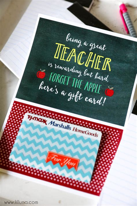 Gift Card Holder Ideas For Teachers - teacher appreciation gift card holder lil luna