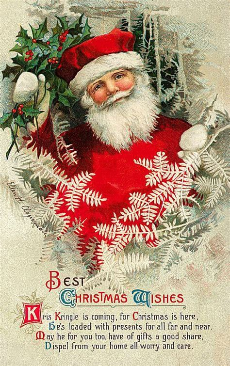 old time santa kris kringle old christmas cards pinterest