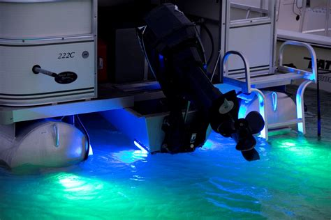 underwater lights on a pontoon boat led technology pumps up the wow factor